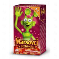 Marsovci, žvečljive tablete s prebiotiki - okus jagoda, 30 tablet