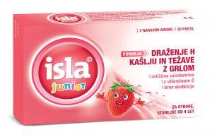 Isla Junior z okusom jagode, 20 pastil